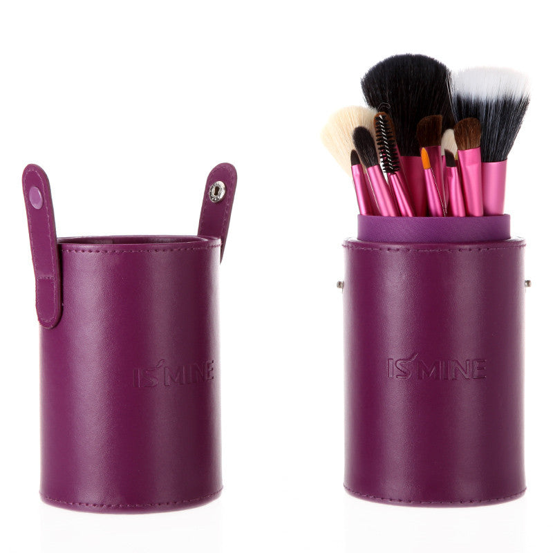 makeup brush cup holder. 13 pcs professional portable makeup brushes make up set cosmetic kit tools with cup holder case-hot sale-top quality!-[free shipping] brush e