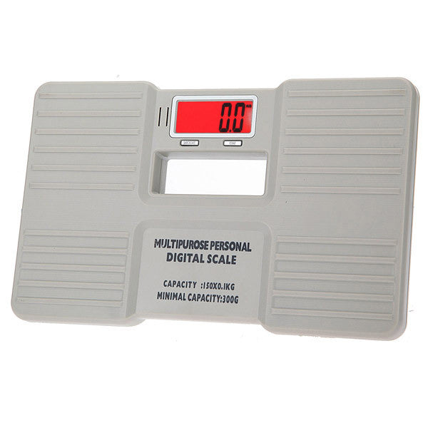 White Digital Bathroom Body Weight Scale 150 X 0.1KG