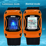 Kids Watches Car Style LED Cartoon Digital Watch Jelly Silicone 50m Waterproof Swim Sports Wristwatches For Children