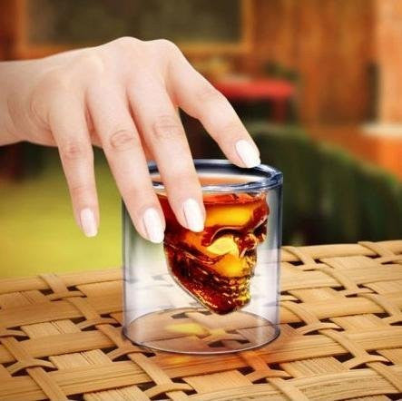 Cool Crystal Skull Head Shaped Shot Glass Mug