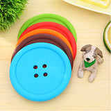 Creative Household Supplies Round Silicone Coasters Cute Button Coasters Cup Mat