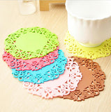 Creative household supplies round silicone coasters Cup mat