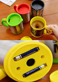 Tea cup Automatic coffee mixing cup/mug bluw stainless steel self stirring electic coffee mug 350ml