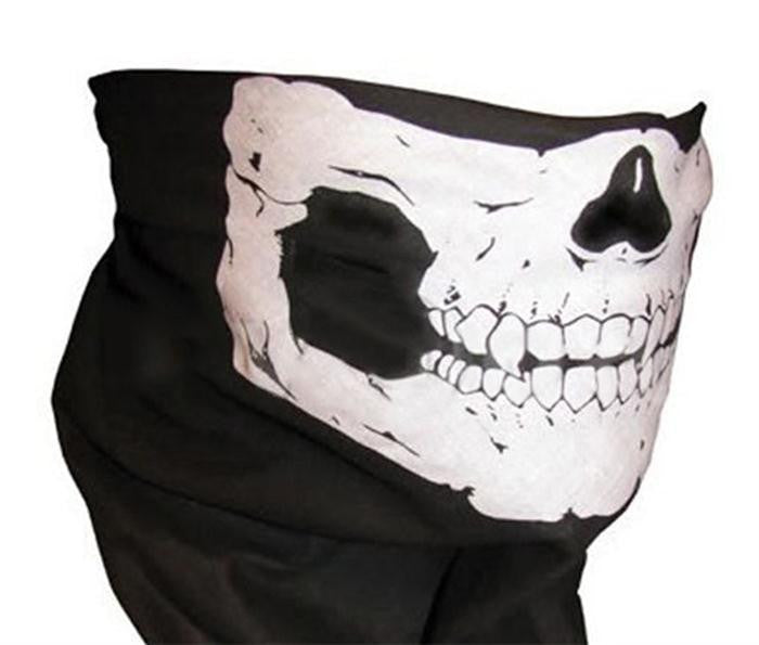Novelty Sport Skull Scarves/Fashion Cool Skull Wicking Seamless Washouts Scarf/Outdoor Ride Bandanas