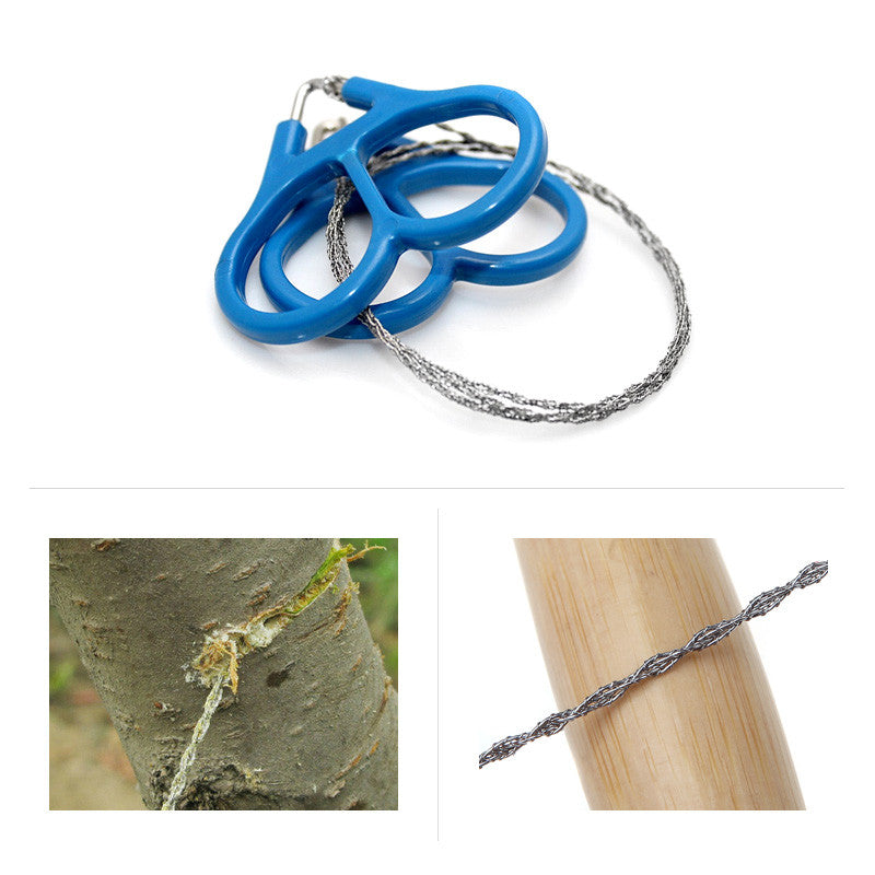 Outdoor Plastic Ring Steel Wire Saw Scroll Emergency for Hunting Camping Hiking Survival Tool