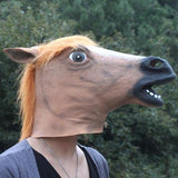 Creepy Horse Mask Head Halloween / Christmas Costume Theater Prop Novelty Latex Rubber