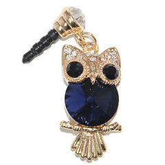 Crystal Owl Alloy Chain Zircon Anti-dust Plug