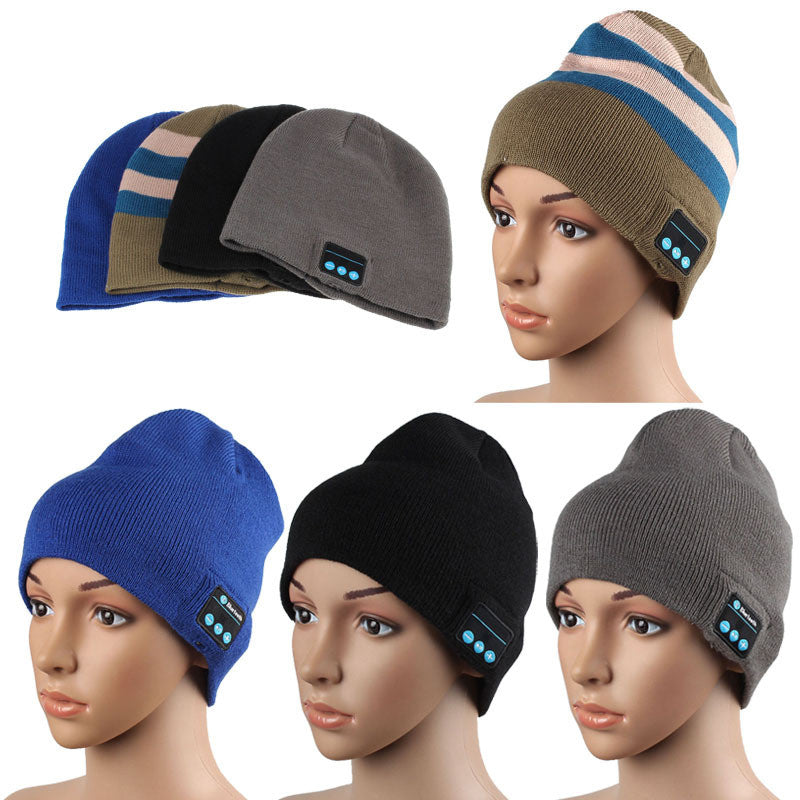 1PC Warm Hat Wireless Bluetooth Smart Cap Headset Headphone Speaker Mic