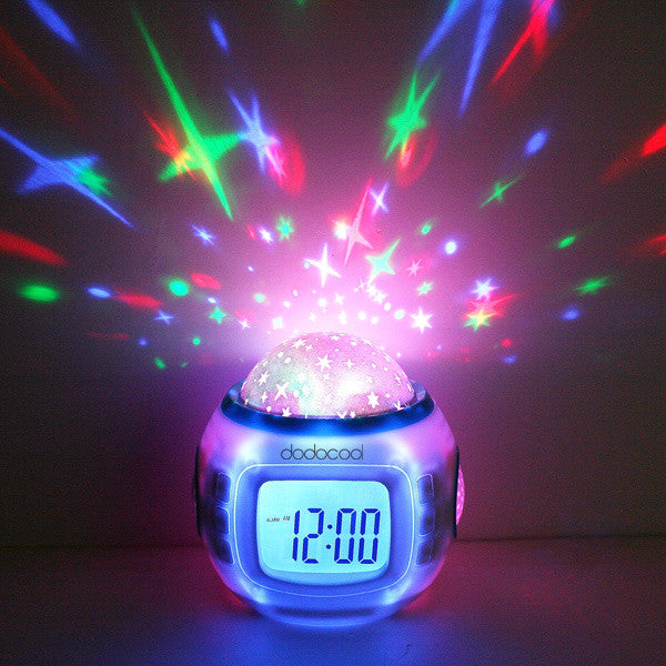 Music Starry Star Sky Projection Alarm Clock Calendar Thermometer For Best gift