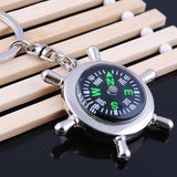 Rudder compass multifunctional keychain male key ring Rudder Helm Key Ring