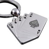 Fashion Poker Keychain Male Personality Metal Key Chain Key Ring Funny Gift