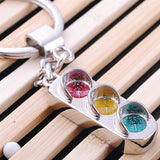 High quality Traffic lights type keychain model key chains jewelry sports trinket key ring