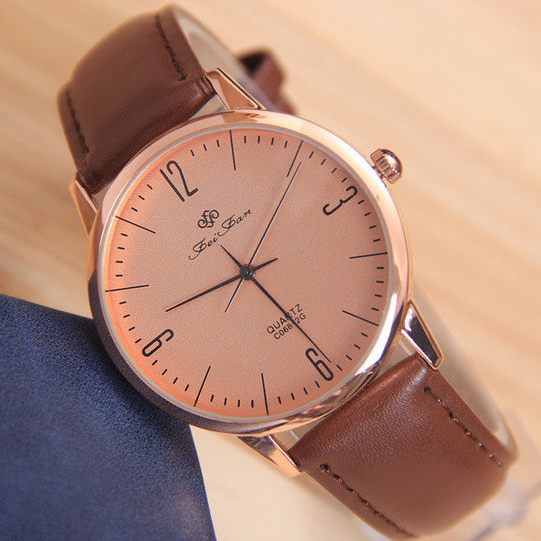 Men's watches Gentleman Wristwatch Fashion Women quartz watches Electronic New Men Casual watches