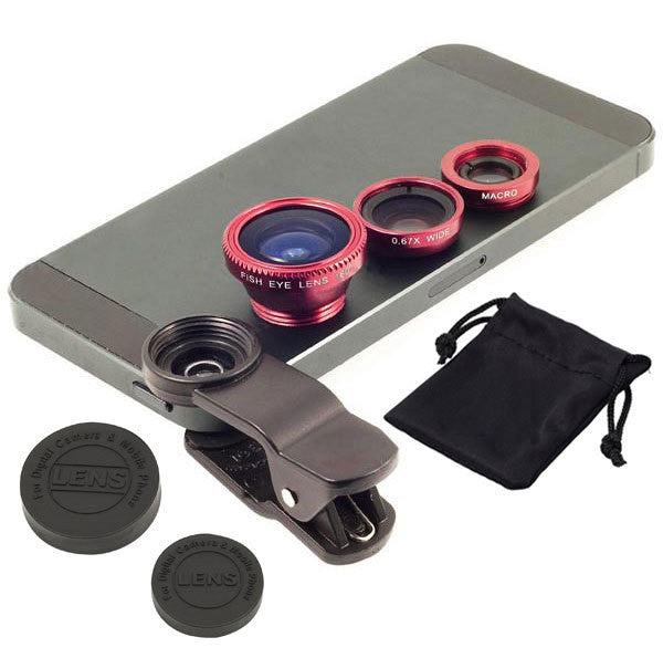 niversal 3 In 1 Clip-on Fish Eye Macro Wide Angle Mobile Phone Lens Camera kit for iPhone 4 5 6 Samsung S4 S5 note2 3 MOTOROLA