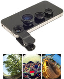 Universal 3in1 Clip-On Fish Eye Lens Wide Angle Macro Mobile Lens For iPhone 4 5 Samsung Galaxy S4 S5 All Phones fisheye