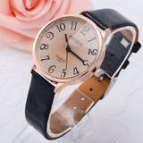 Lady Women Dress Watch Vintage Synthetic Leather Strap Analog Quartz Sport Wrist Watches