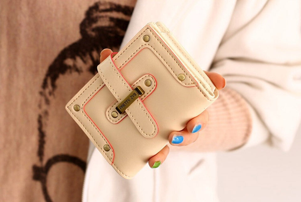 New Fashion good PU leather zipper&Hasp fashion women wallets/lady purses short style