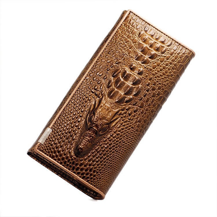 New Genuine Leather Wallets Brand Women' Wallets Crocodile 3D Purse Women's Clutches Fashion Leather Wallets