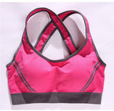 New Arrival Women Sexy Racerback Stretch Yoga Athletic Sports Bras Crop Bra