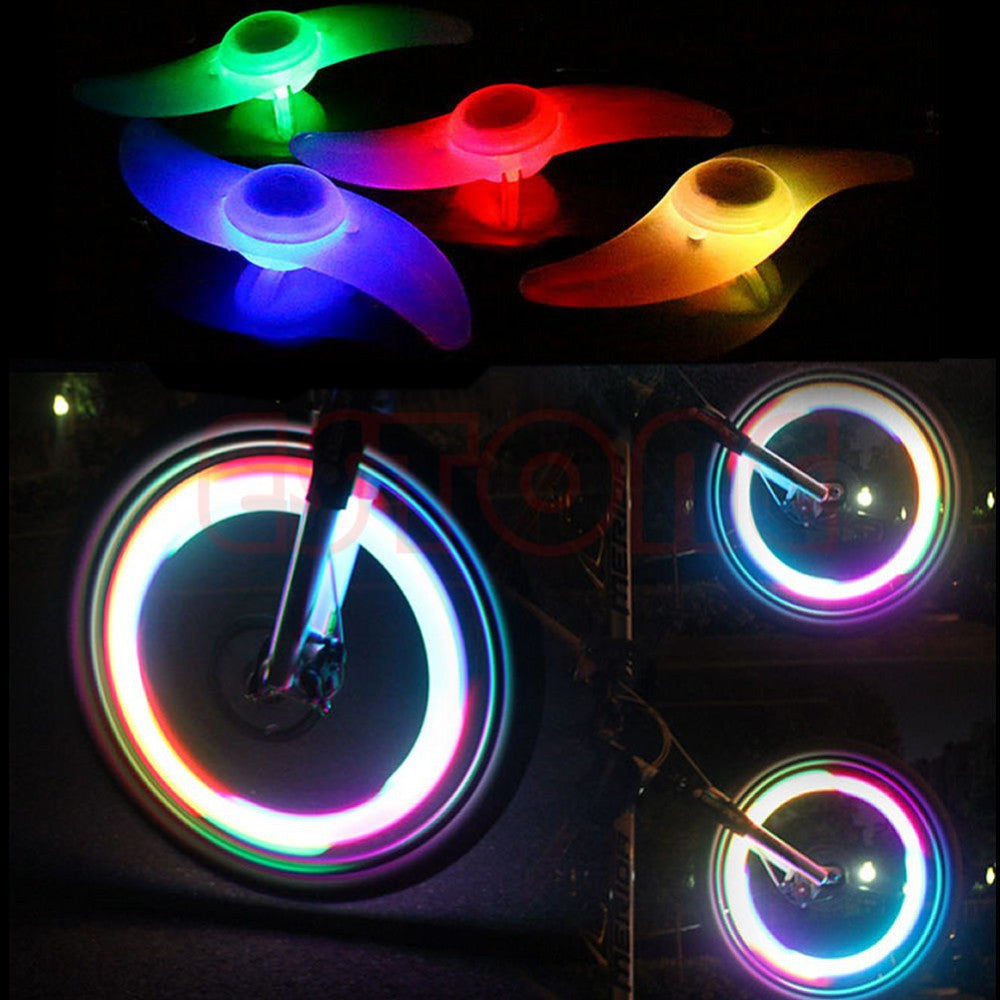 Cool Bright Bike Bicycle Cycling Spoke Wire Wheel Lamp Waterproof LED 3Modes