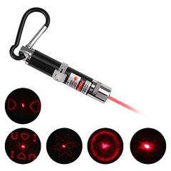4 in 1 Red Laser LED Keychain - Silver