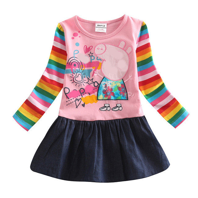 Baby Girl Dress long sleeve kids dresses for girls clothes Nova Floral Baby Girl Dress Kid Girl Party Dress children clothing