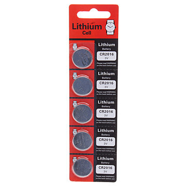 Lithium Button Battery CR2016 (3 v)