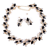 Butterfly Jewelry Sets Gold Plate Black Resin Beads Chocker Collar Party Gifts Bridal Jewelry Woman's Necklace Earring