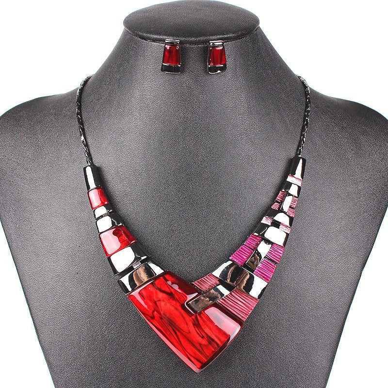 Fashion Jewelry Sets Gunmetal Plated Multicolor/Green/Red Colors High Quality Party Gifts