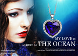 Neoglory Titanic Ocean Heart Necklaces & Pendants For Women Crystal Rhinestone Jewelry Accessories Gift