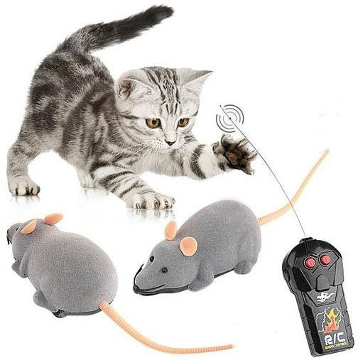 New arrivel New Scary R/C Simulation Plush Mouse Mice With Remote Controller Kids Toy Gift