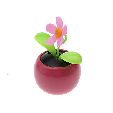 Solar Powered Flip Flap Flower Plant-Pink