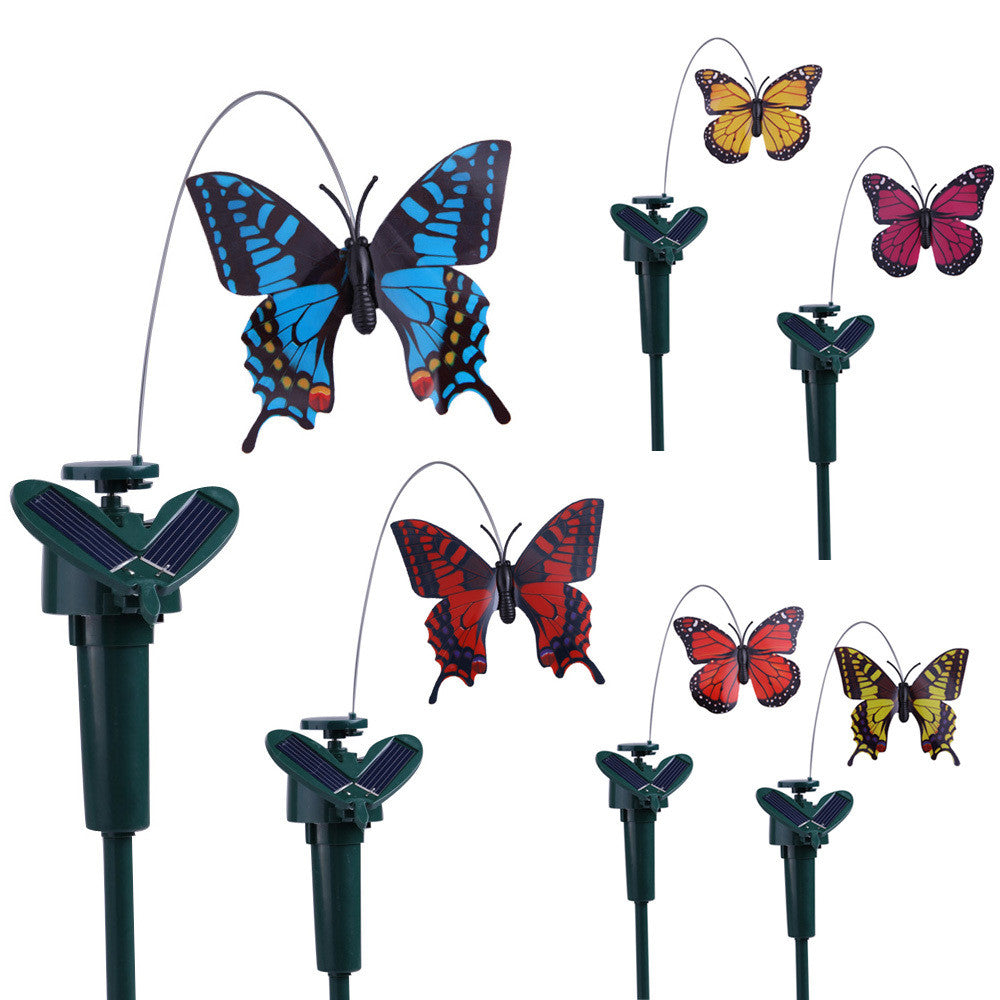 Solar Powered Dancing Flying Butterfly Garden Decoration (Random color)