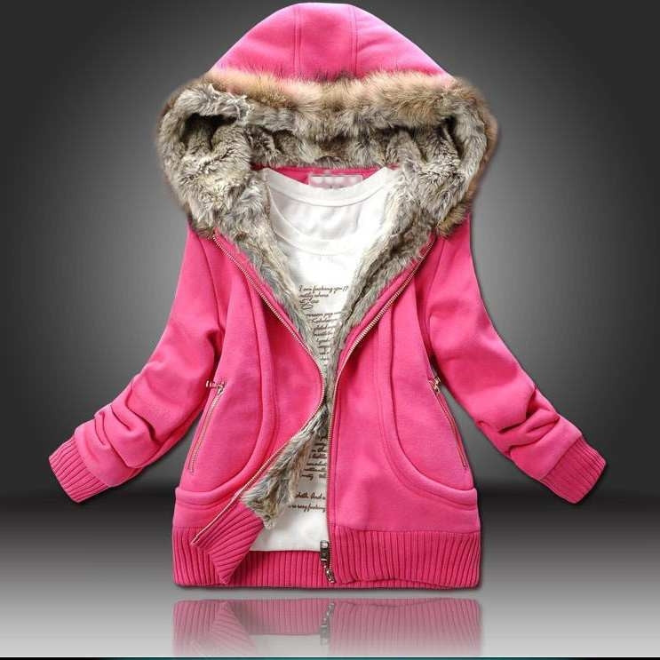 Women winter Coat,Sweatshirt Plus Large Fur Hooded Women Clothing