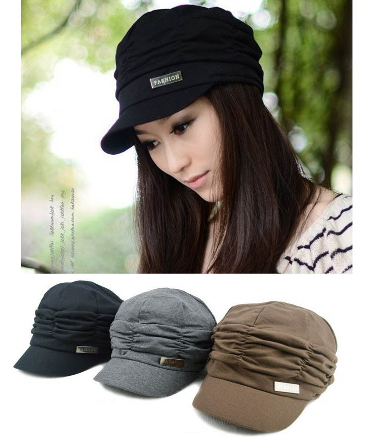 Korean Version Spring and Winter Gorro Cap Lady's Fashion Drape Delicate Women Hats