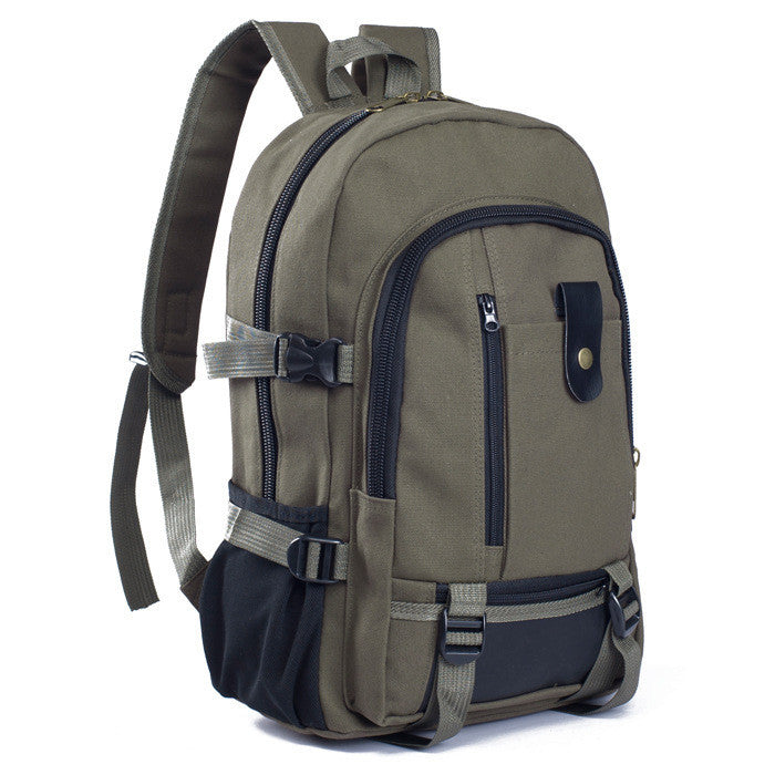 Male fashionable casual canvas backpack middle school students school bag travel bag large capacity backpack man bag