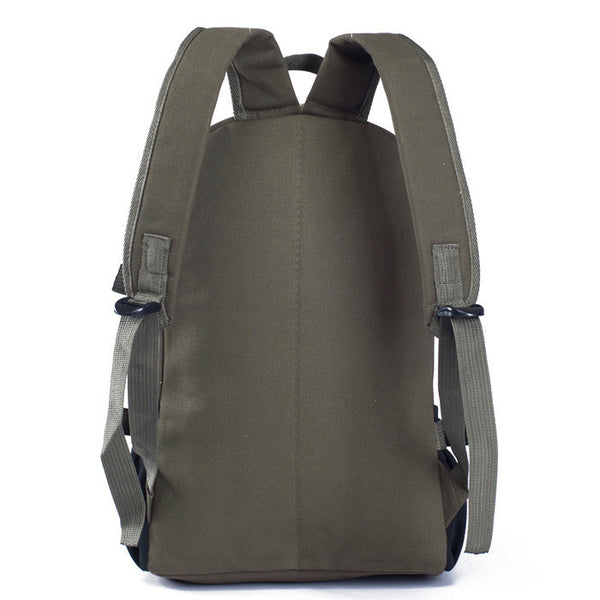 Male fashionable casual canvas backpack middle school students school  6b7e1d1bea0ab