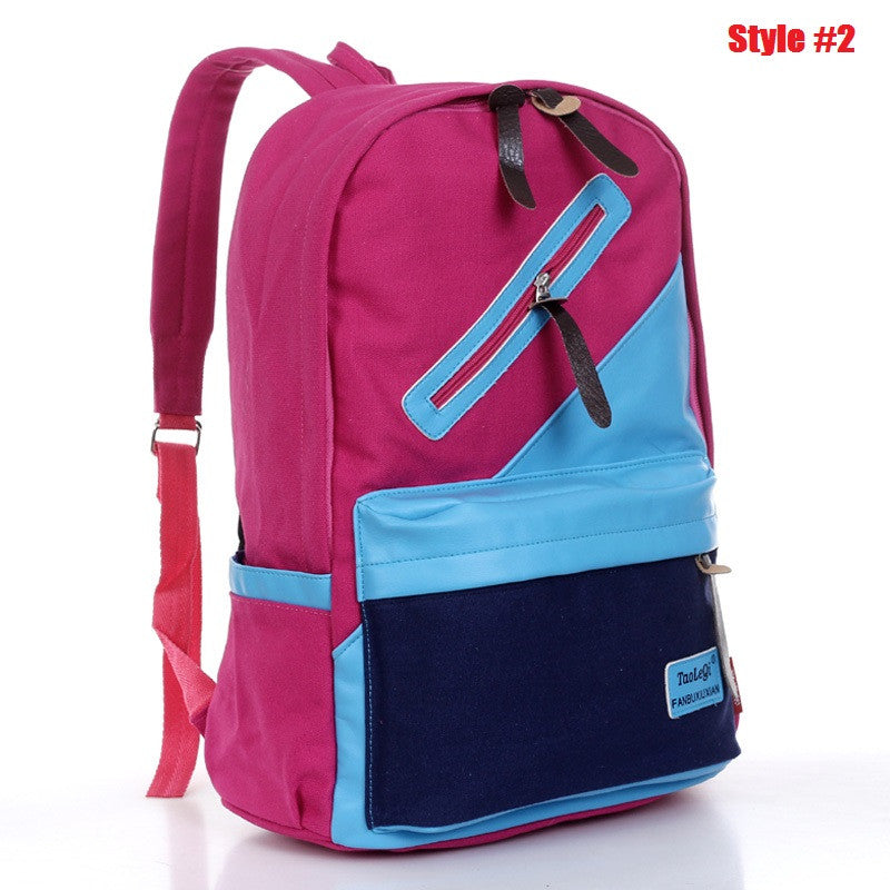 Canvas backpack schoolbags for girls casual backpack women men printing backpack shoulder bags fashion school backpacks pretty