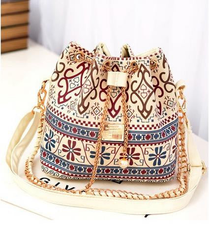 Hot Canvas Bucket Bag Women Handbag Female Casual Canvas Shoulder Bag Cross- body Bags Women Messenger Bag Day Clutches