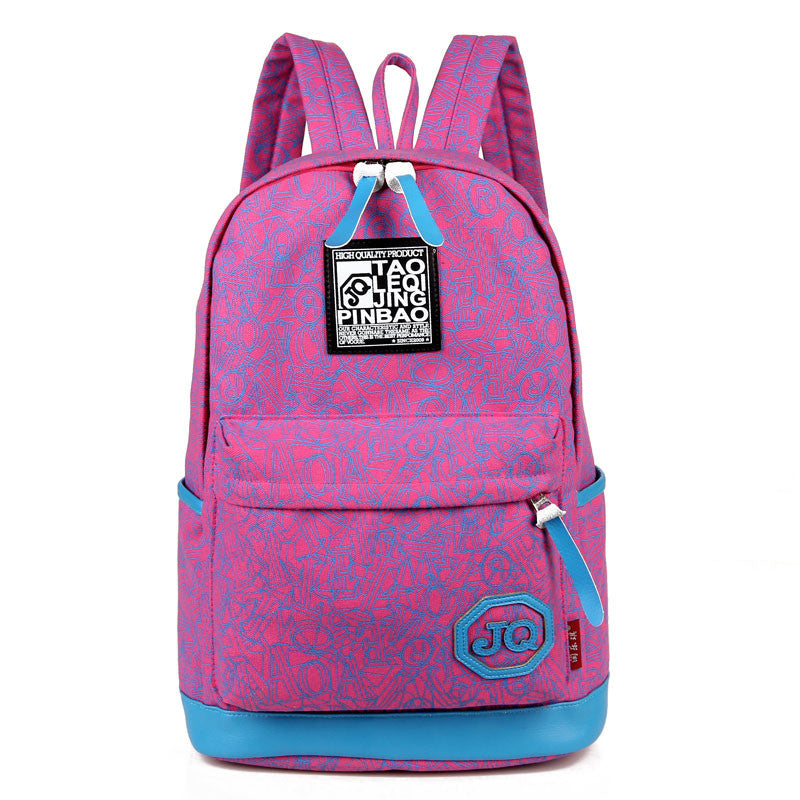 New Arrive Hot Selling Printing Women Backpack Canvas Material Students School Bag Children Hiking Backapcks
