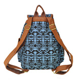New Fashion Women Backpack Geometric Printing Canvas Bag Students Shoulder Bags