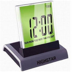 7 Color Change Mini Desktop Digital LCD Thermometer Calendar LED Alarm Clock