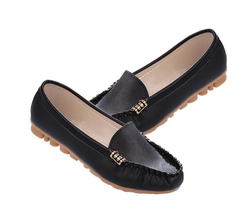 New Arrivals women flats leather fashion shoes slip on woman loafer