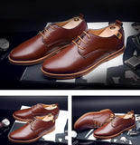 Hot Sale New Fashion Men Leather Shoes Spring/Autumn Men Casual Flat Patent Leather Oxford Men Shoes