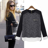 Women Clothes Fashion Blusas Femininas Sweatshirts Tops Vintage Black Long Sleeve hoodies sport suit