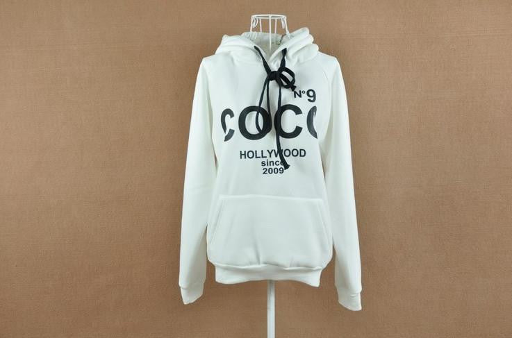 Spring Women's Hoodies Printed COCO Sweatshirts Autumn Winter Sport Outerwear Parka Coats Moleton Feminino Women Pullovers
