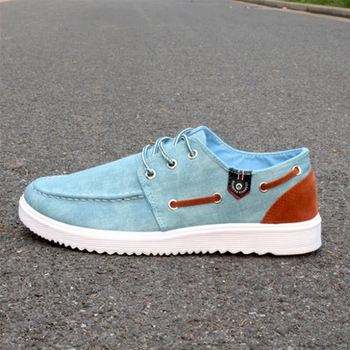 New Solid Men's Flats Shoes Casual Canvas Man Fashion Summer Sneakers For Men