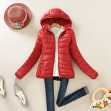 super warm winter parka jacket coat ladies women jacket Slim Short padded women