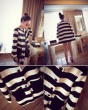 New Autumn Women Outerwear Striped Printed Jacket Slim Casual Coat