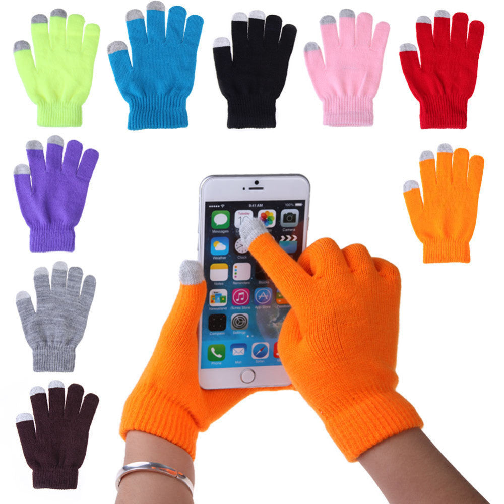 Women Men Touch Screen Soft Cotton Winter Gloves Warmer Smart For All phones